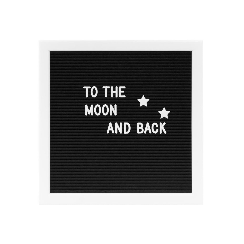 MESSAGE BOARD Tabule na vzkazy 30 x 30 cm - černá