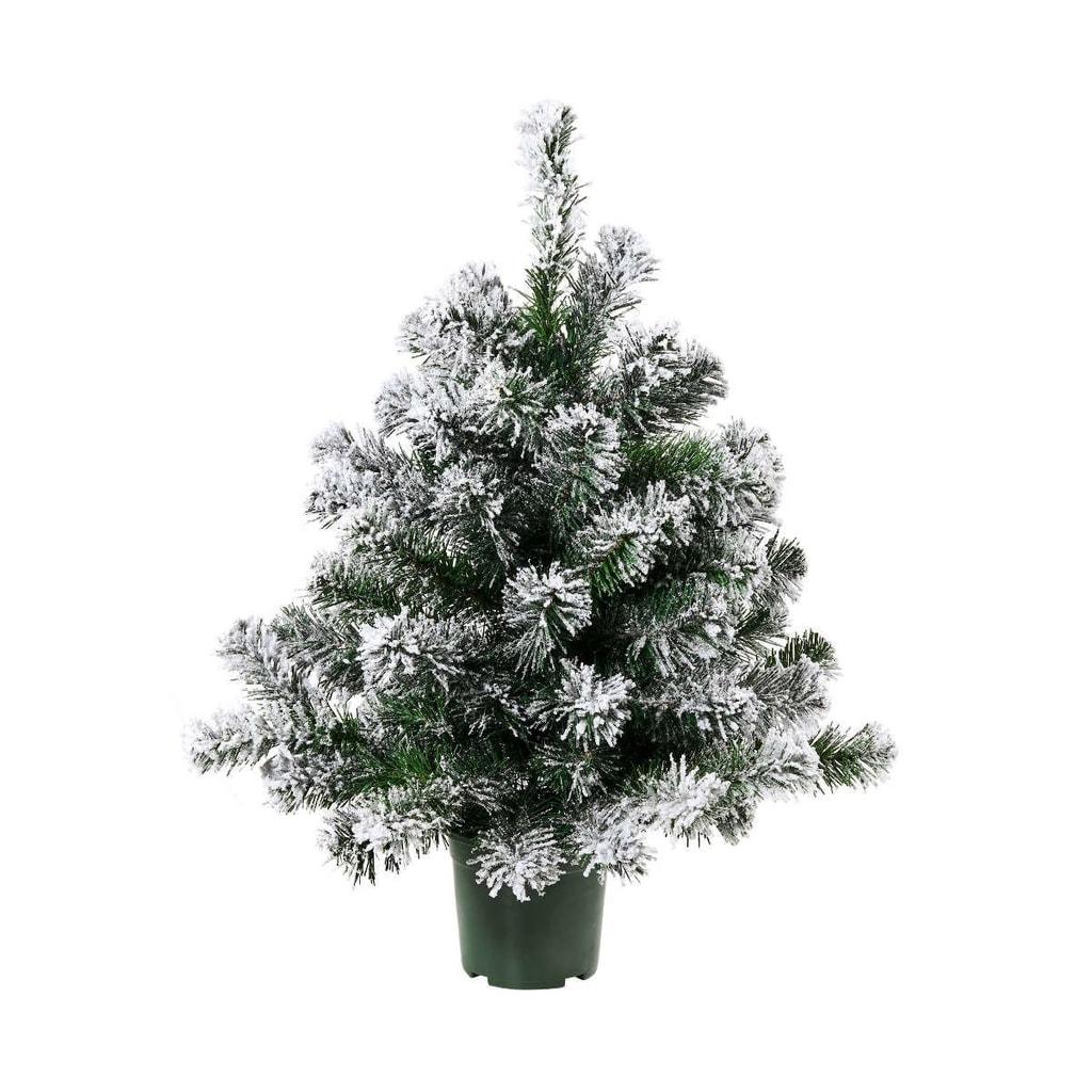 TREE OF THE MONTH Vánoční stromek zasněžený 90 cm - zelená