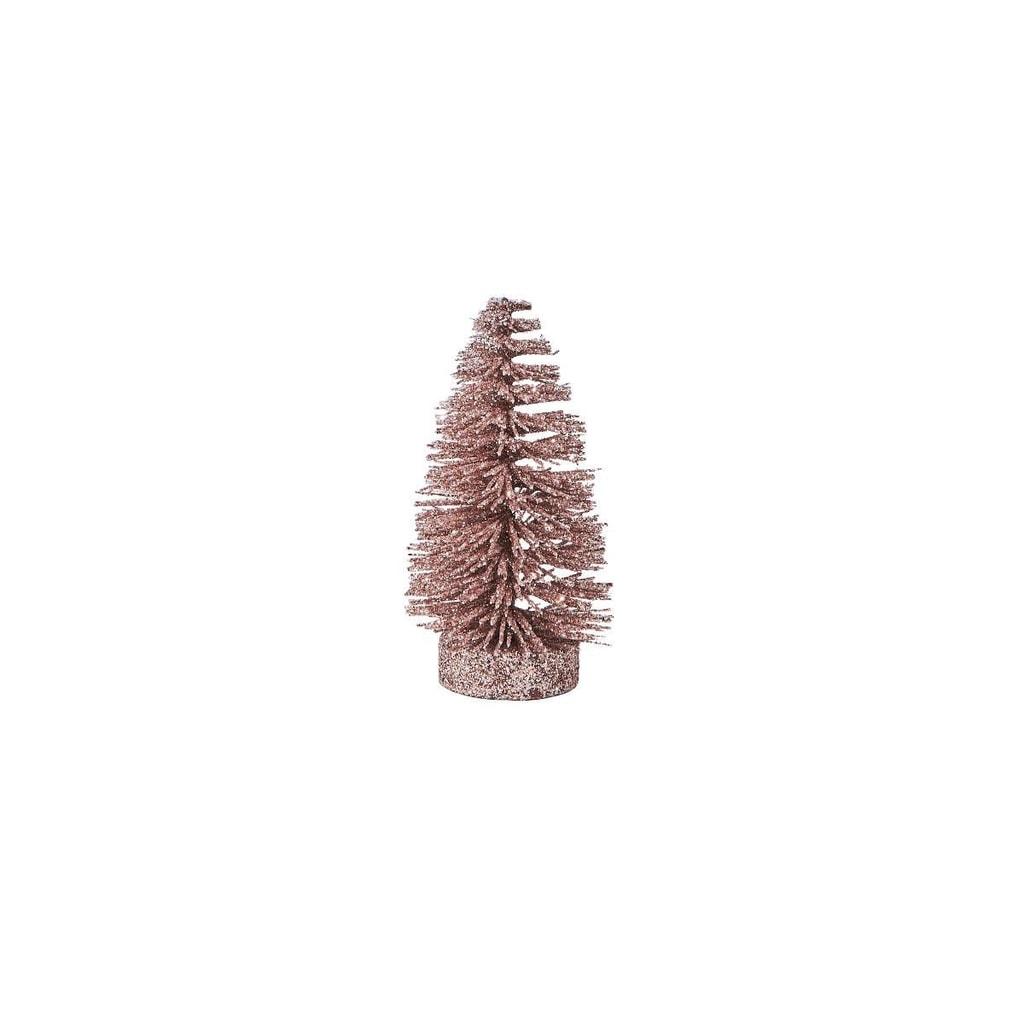 X-MAS Stromeček třpytivý 12 cm - sv. růžová