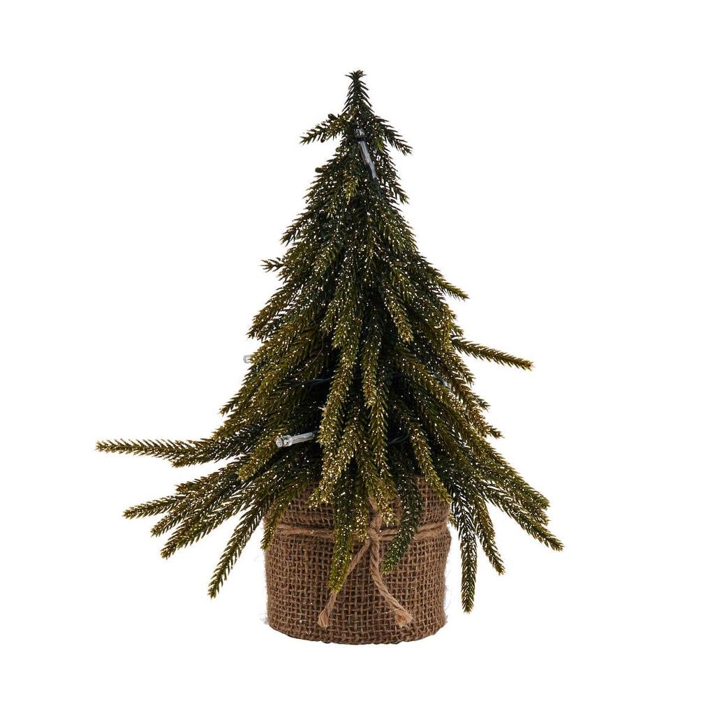 TREE OF THE MONTH Vánoční stromek se zlatými elementy malý