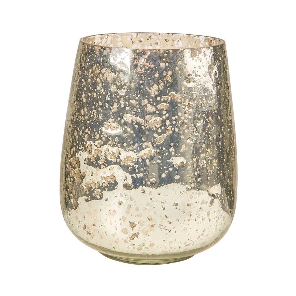 PIXIE DUST Svícen 17 cm - stříbrná