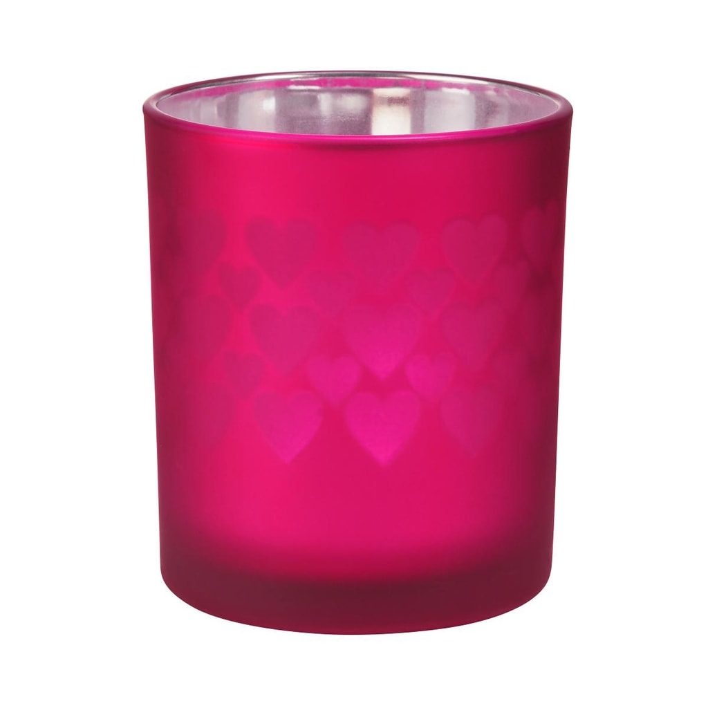 DELIGHT Svícen na čajovou svíčku srdce velký - vínová