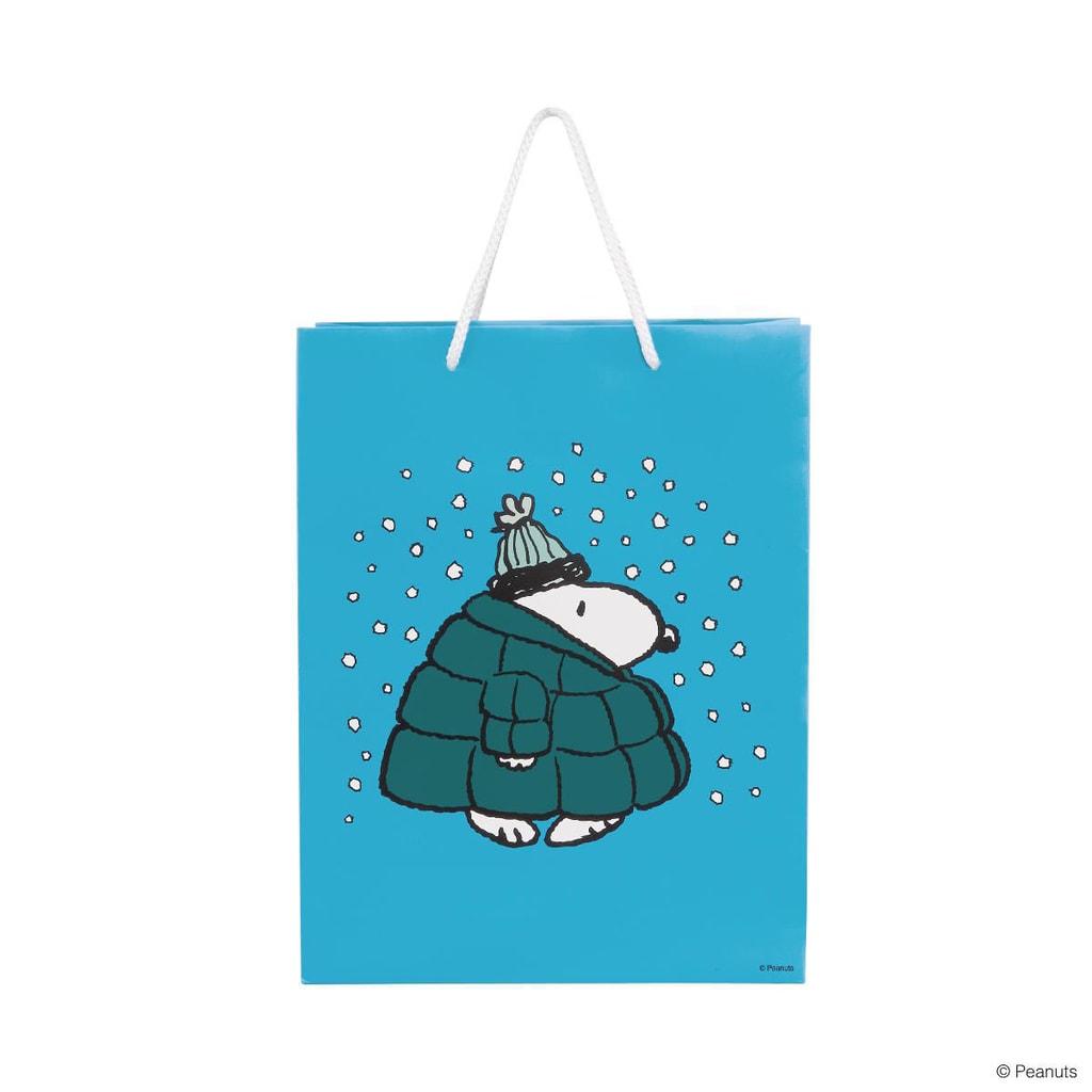 PEANUTS Dárková taška Snoopy v péřové bundě velk