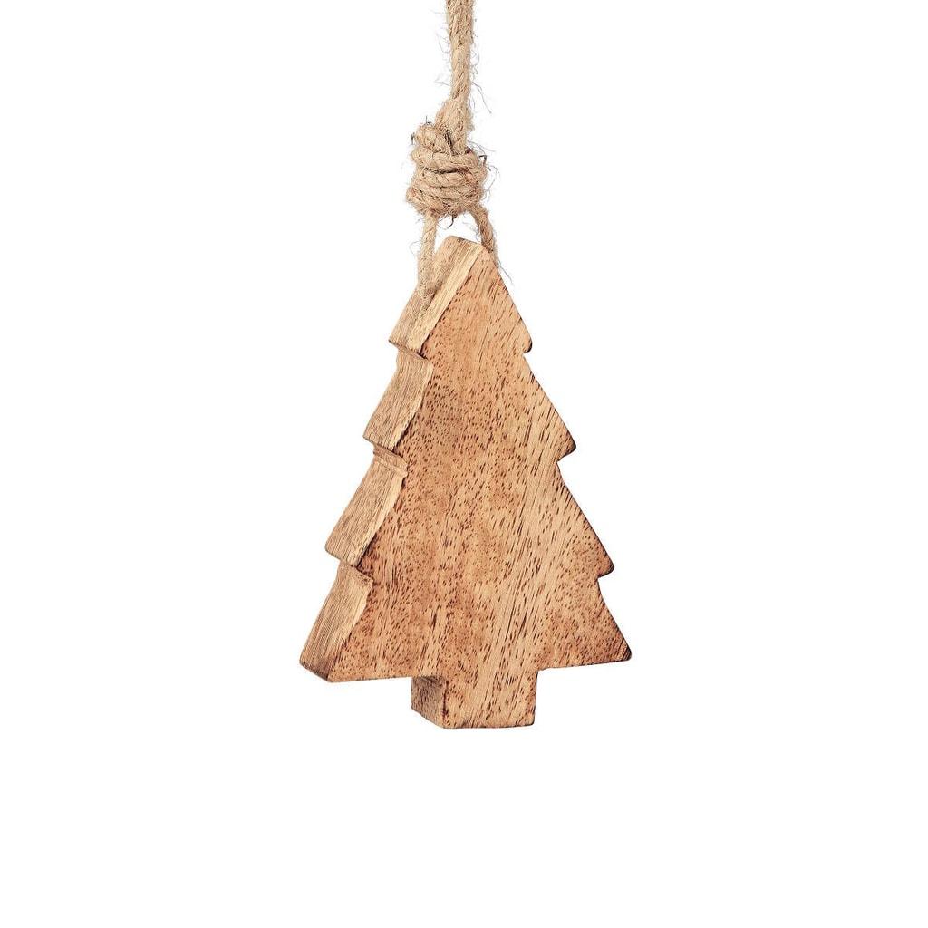 HANG ON Ozdoba dřevěná vánoční stromek 12 cm