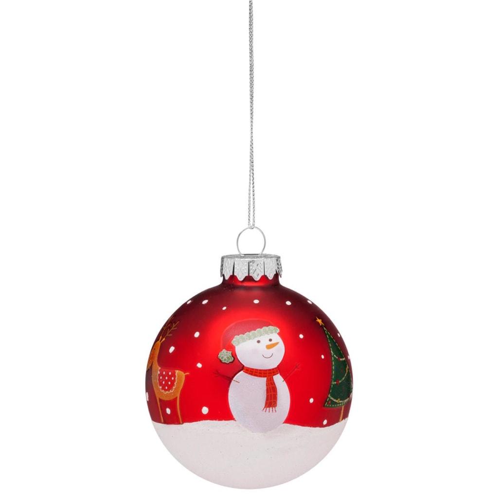 HANG ON Ozdoba vánoce - červená