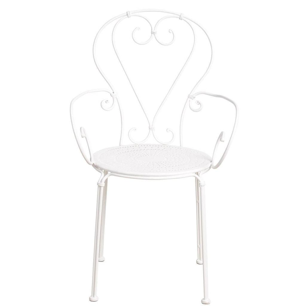 CENTURY Židle s područkami - bílá