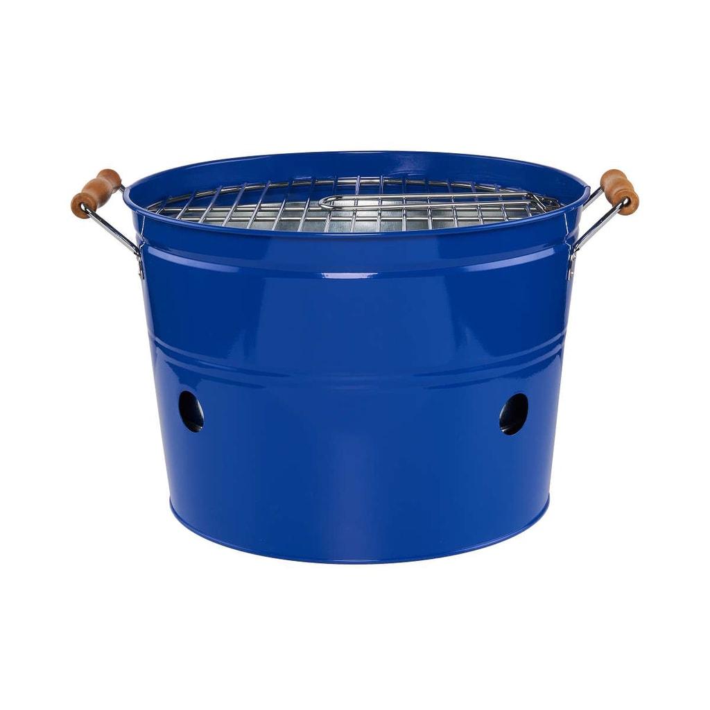 BBQ Přenosný gril kulatý - modrá