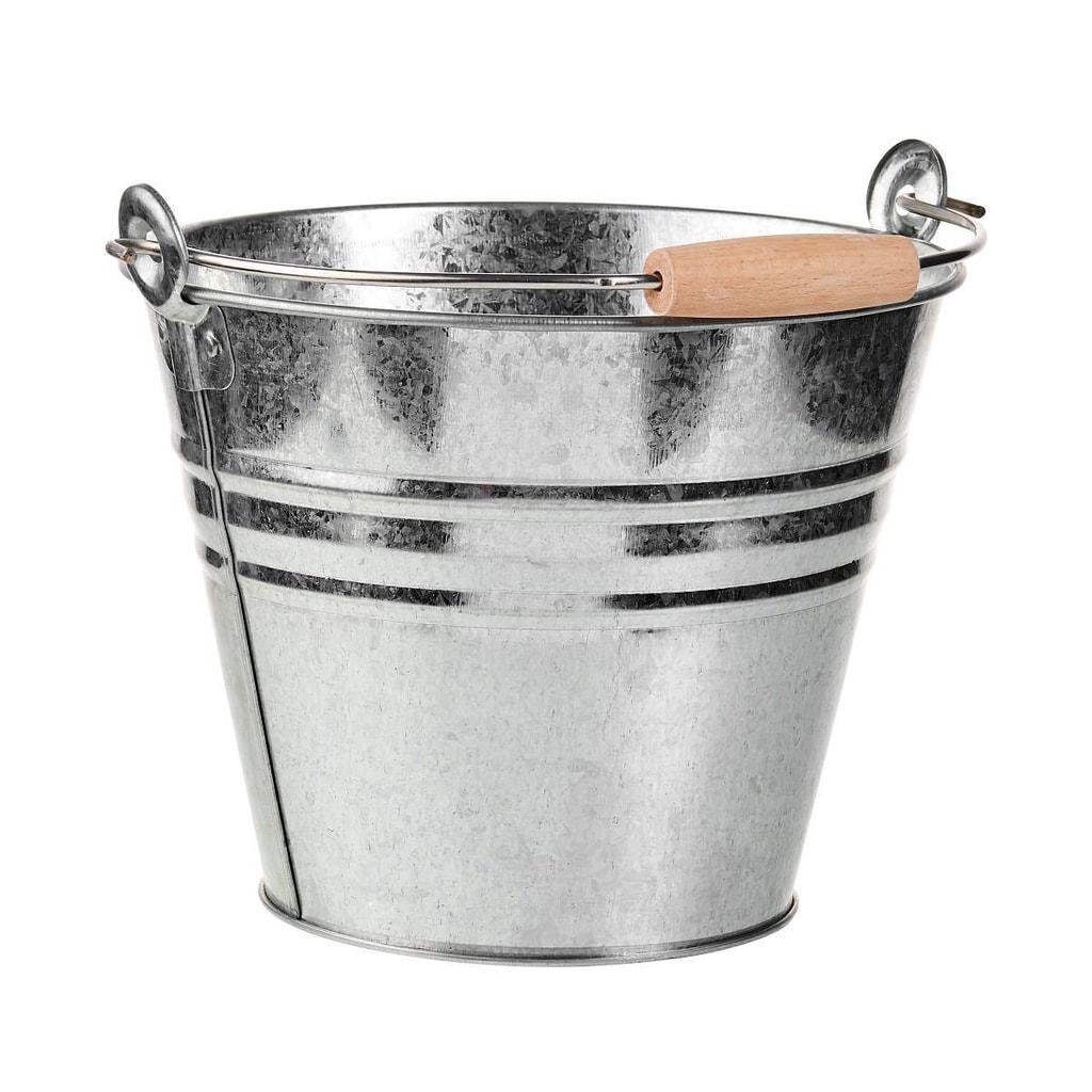 ZINC Kbelík 8 l - stříbrná