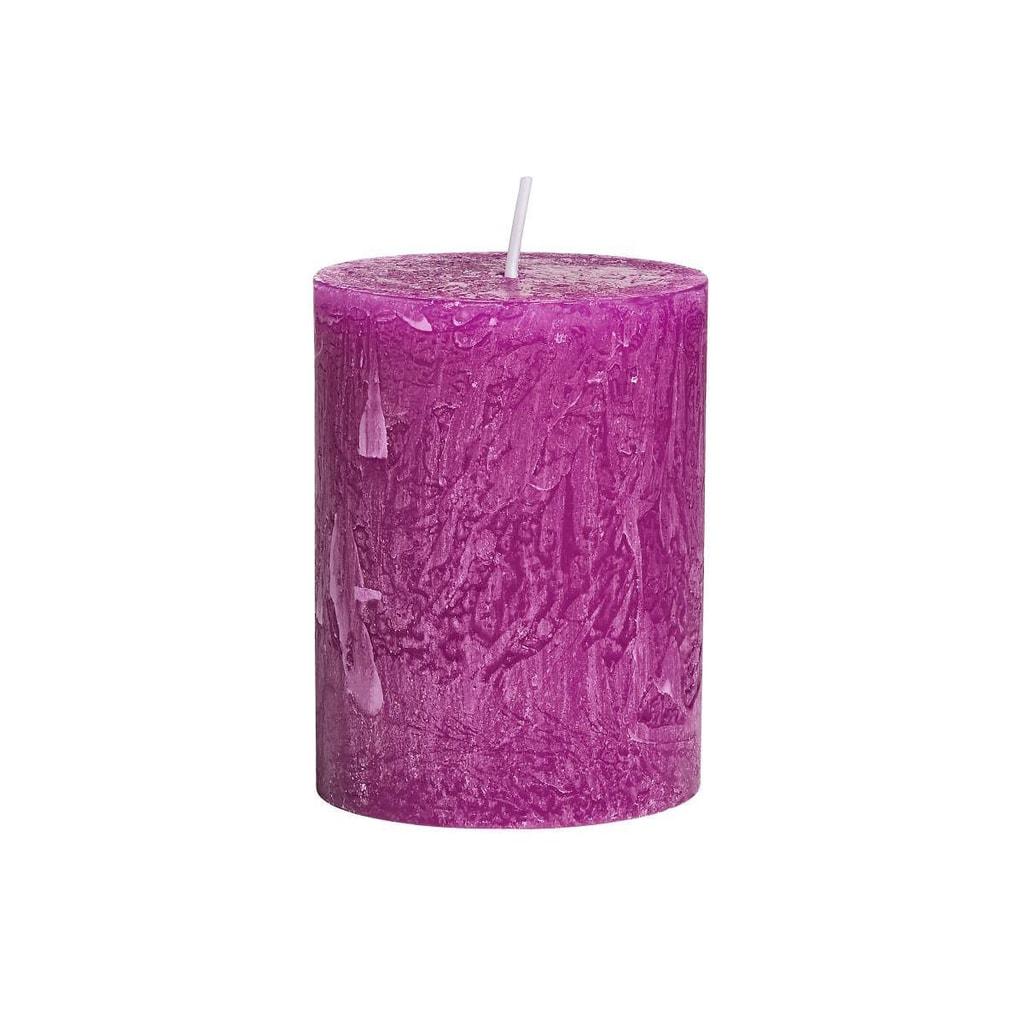 RUSTIC Svíčka 9 cm - fialová