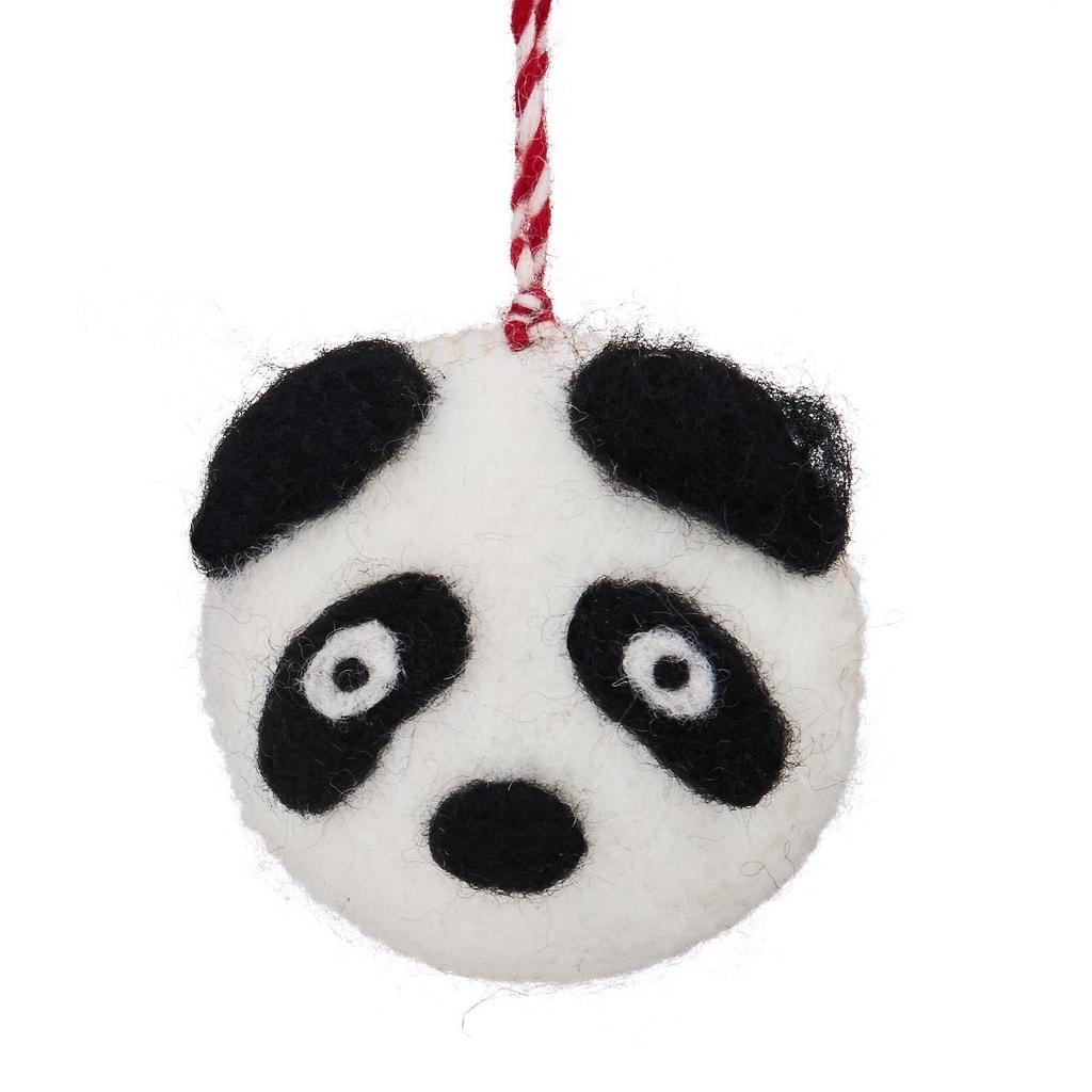 HANG ON Ozdoba filcová hlava pandy