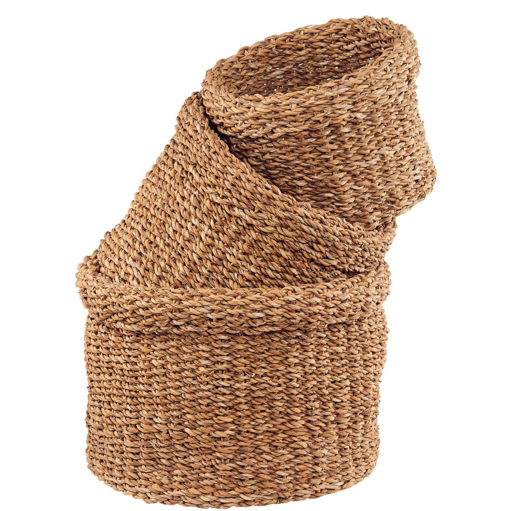 CORBEILL Košík z mořské trávy, 3 ks