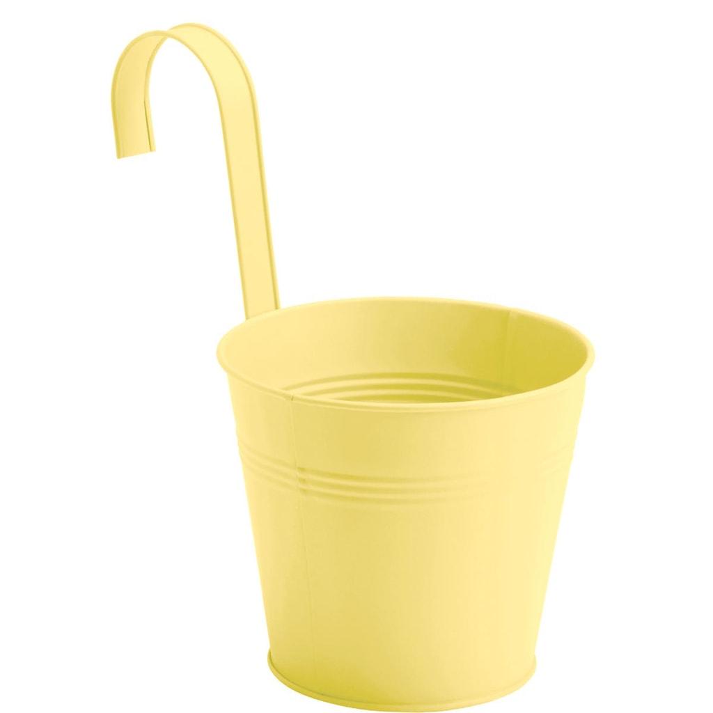 ZINC Květináč k zavěšení, 16 cm - žlutá
