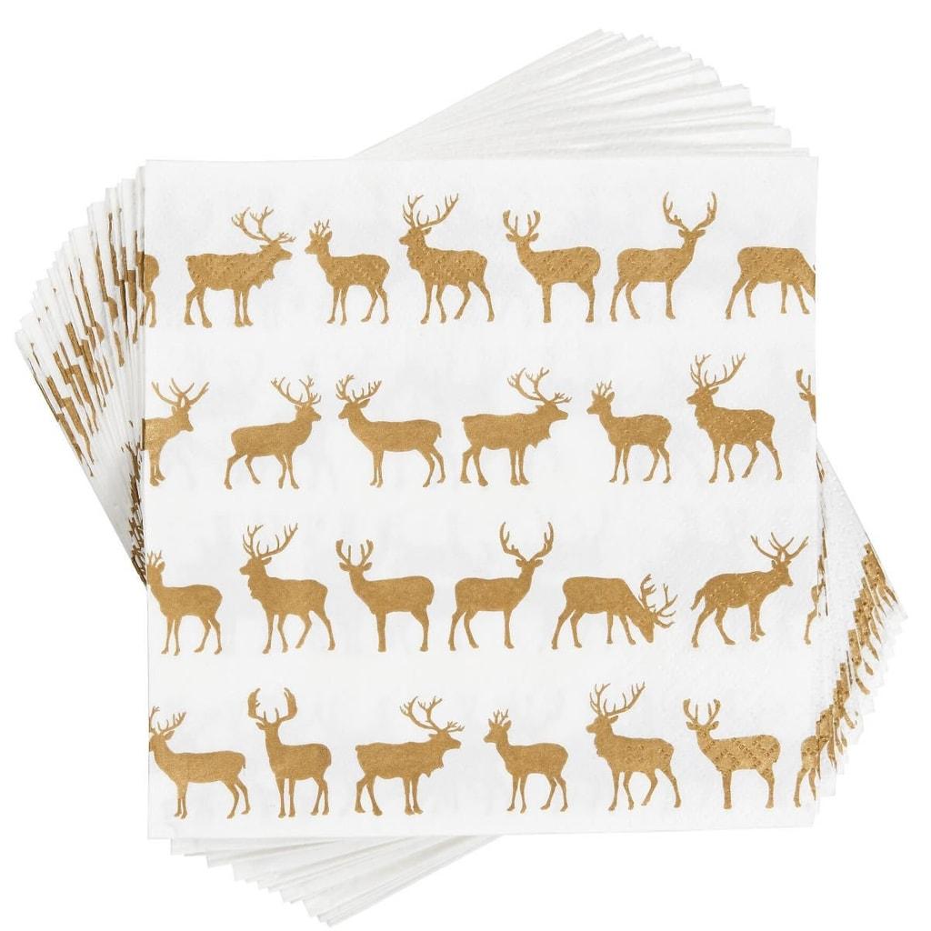 APRÉS Papírové ubrousky zlatí jeleni