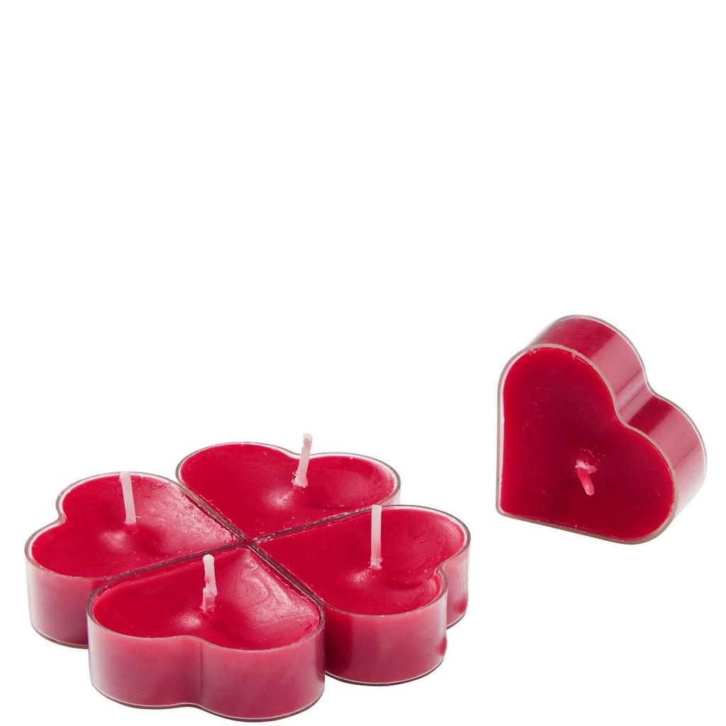 HEART Plovoucí svíčka ve tvaru srdce, set 5ks