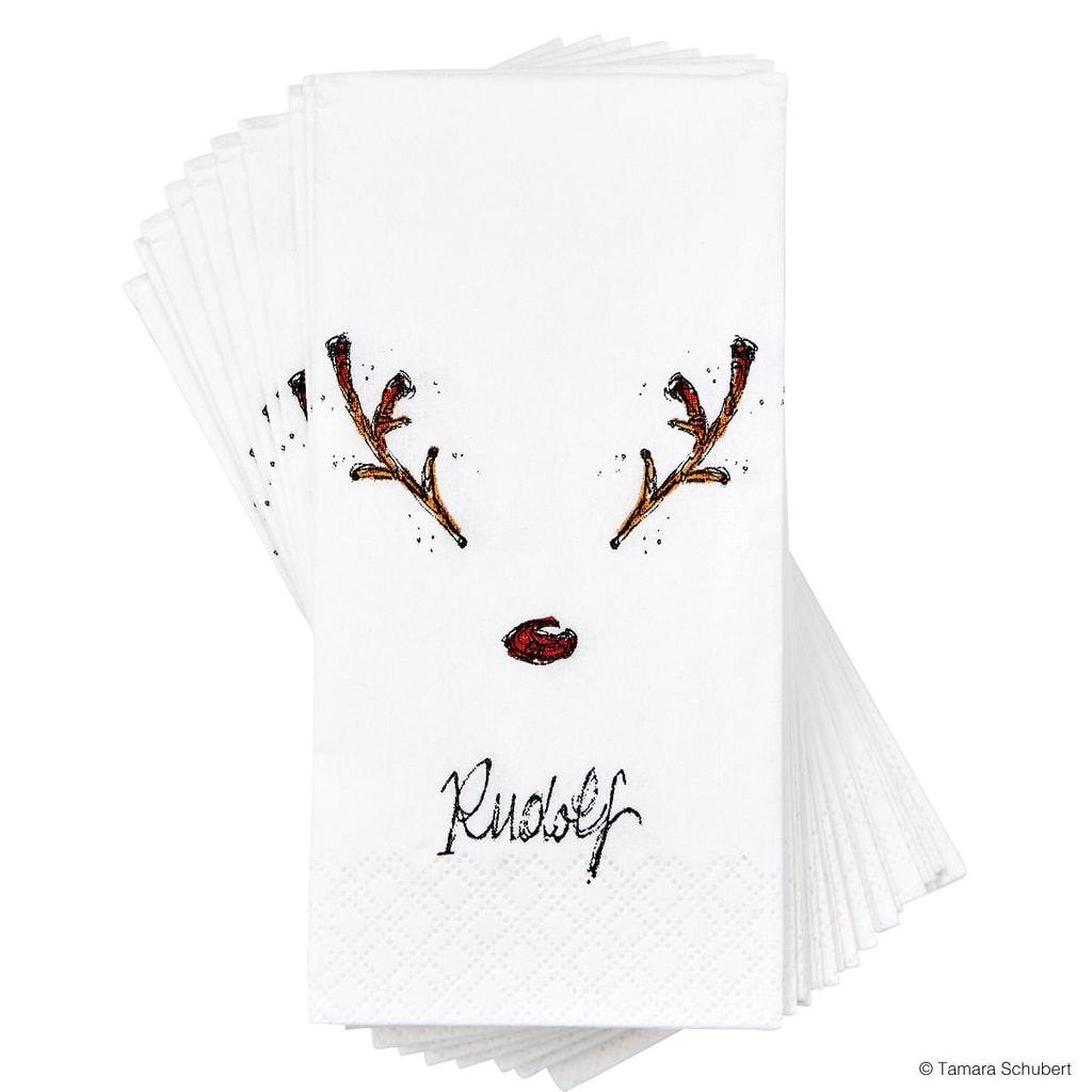 DAWANDA Papírové kapesníčky Rudolf sob
