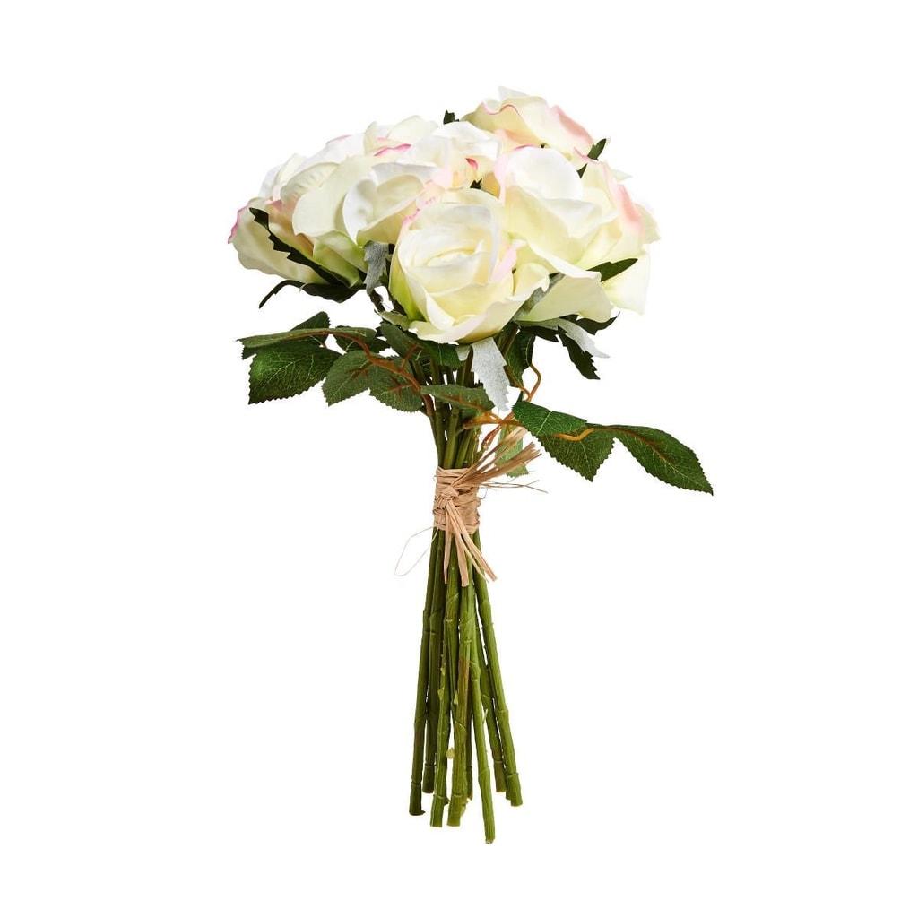 FLORISTA Kytice růží 12 ks - bílá