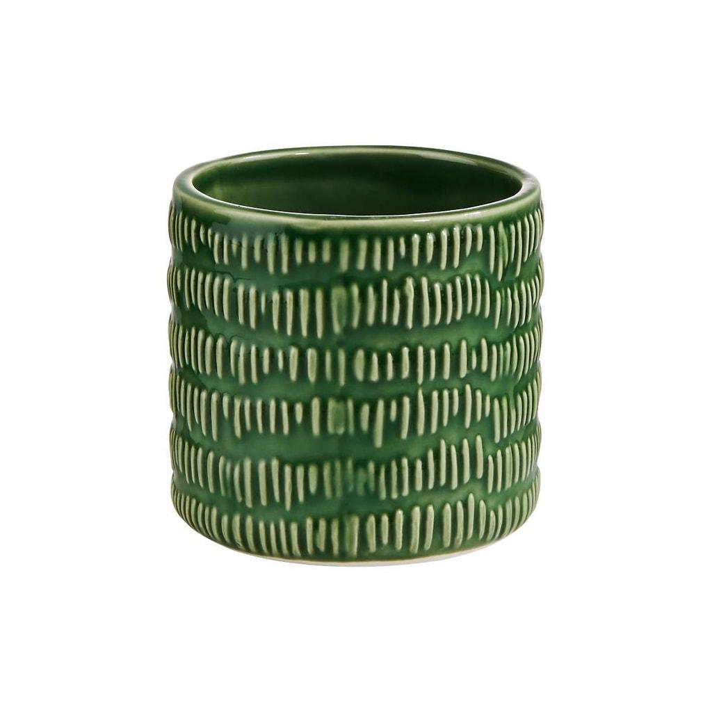 WILD GREEN Květináč pruhy 8 cm