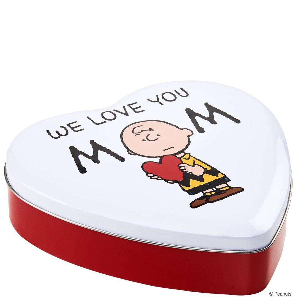 PEANUTS Dóza srdce We love you Mom