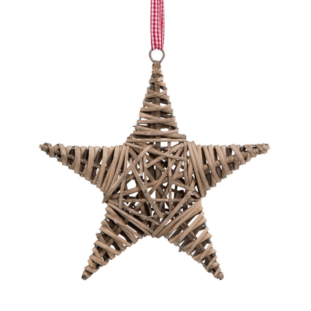 HANG ON Hvězda proutěná 25 cm - přírodní