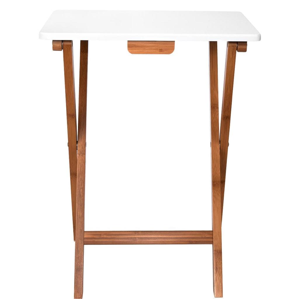 WHITE SANDS Skládací odkládací stolek