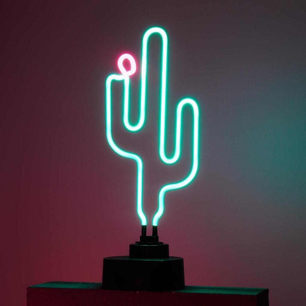 CACTUS Neonová lampa