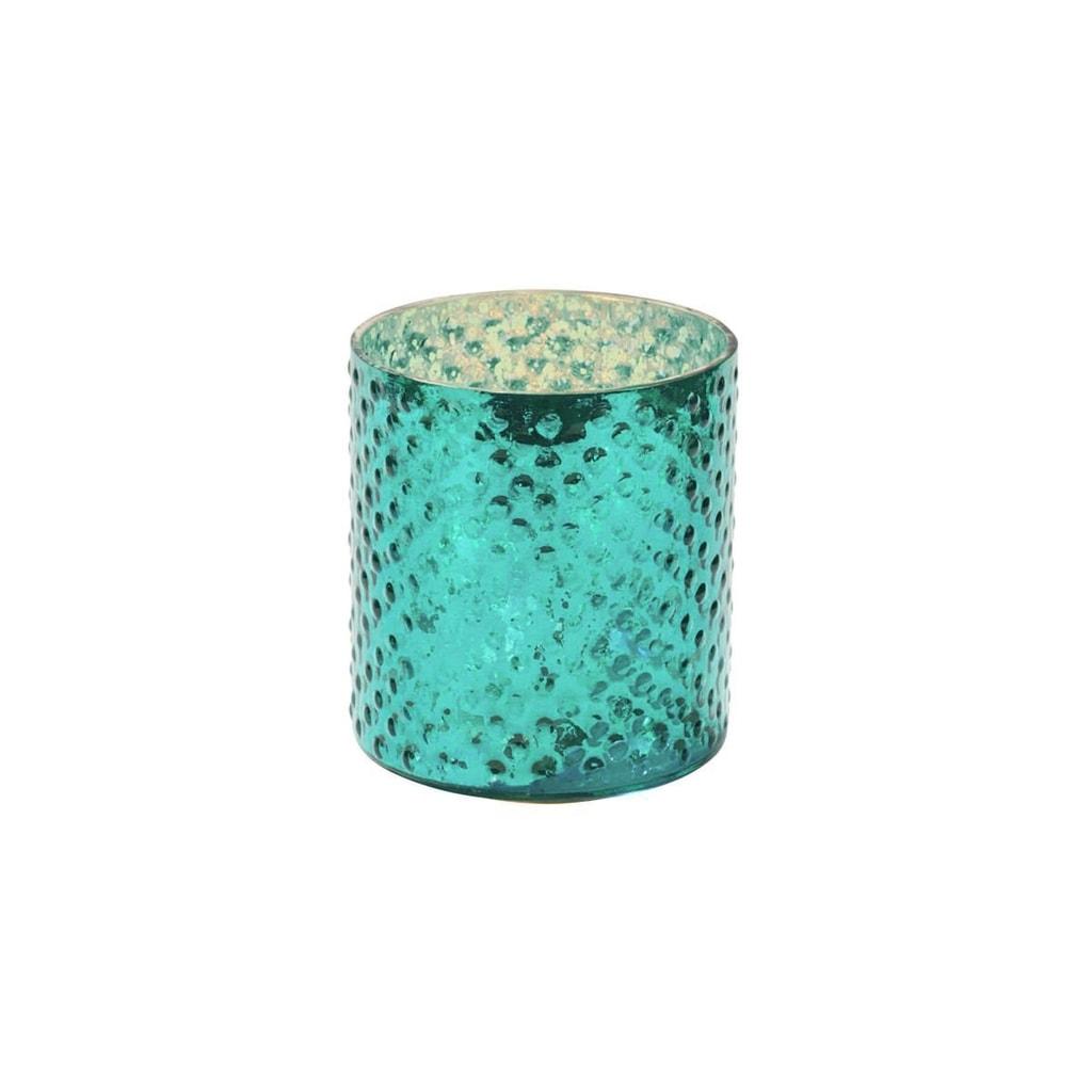 Fotografie DELIGHT Svícen na čajovou svíčku 8 cm - tyrkysová