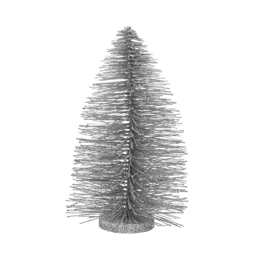 X-MAS Stromeček třpytivý 30 cm - stříbrná