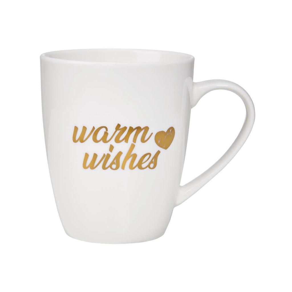 "WHITE XMAS Hrnek ""Warm Wishes"" 350 ml"