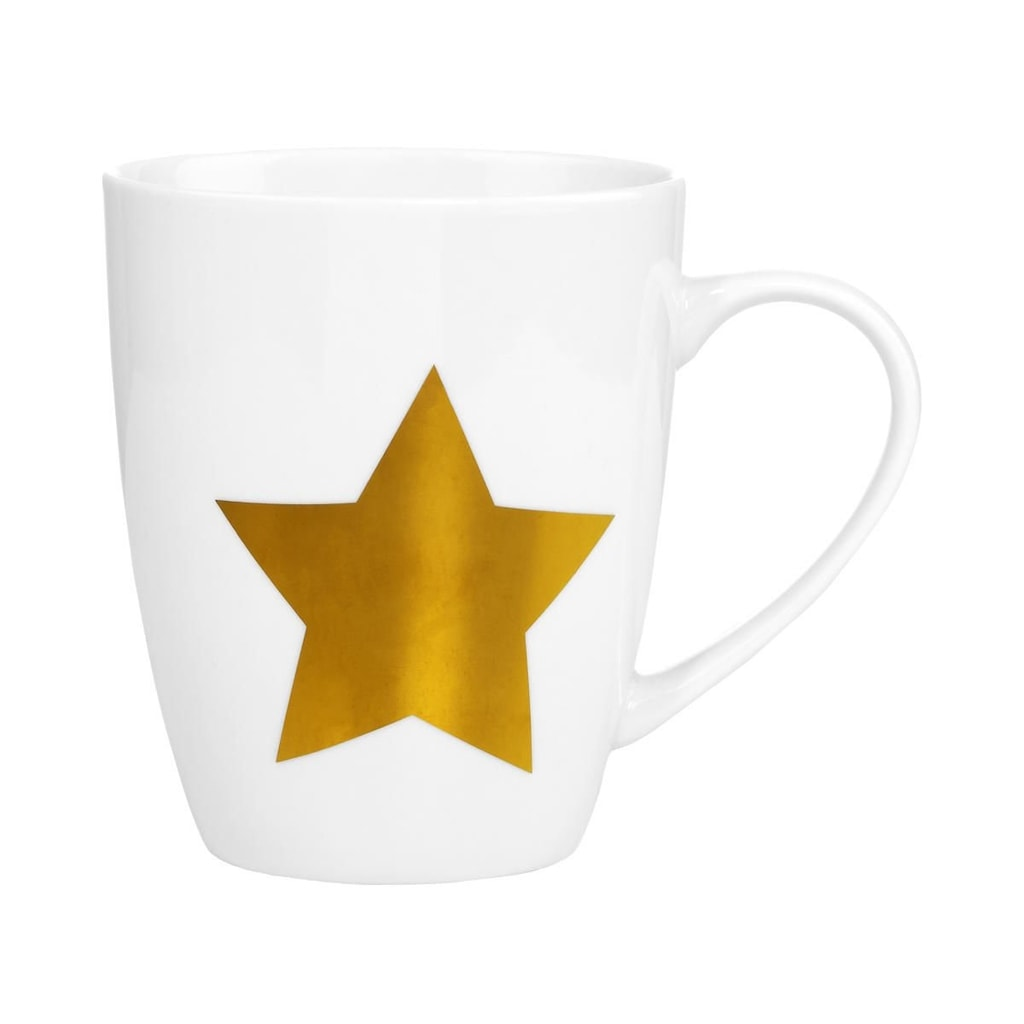WHITE XMAS Hrnek hvězda