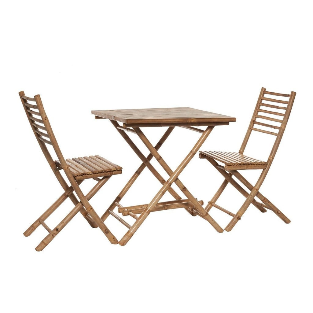 SAFARI Bambusový set, stůl a 2 židle