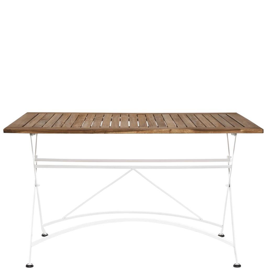 PARKLIFE Stůl 80x130cm - bílá/hnědá