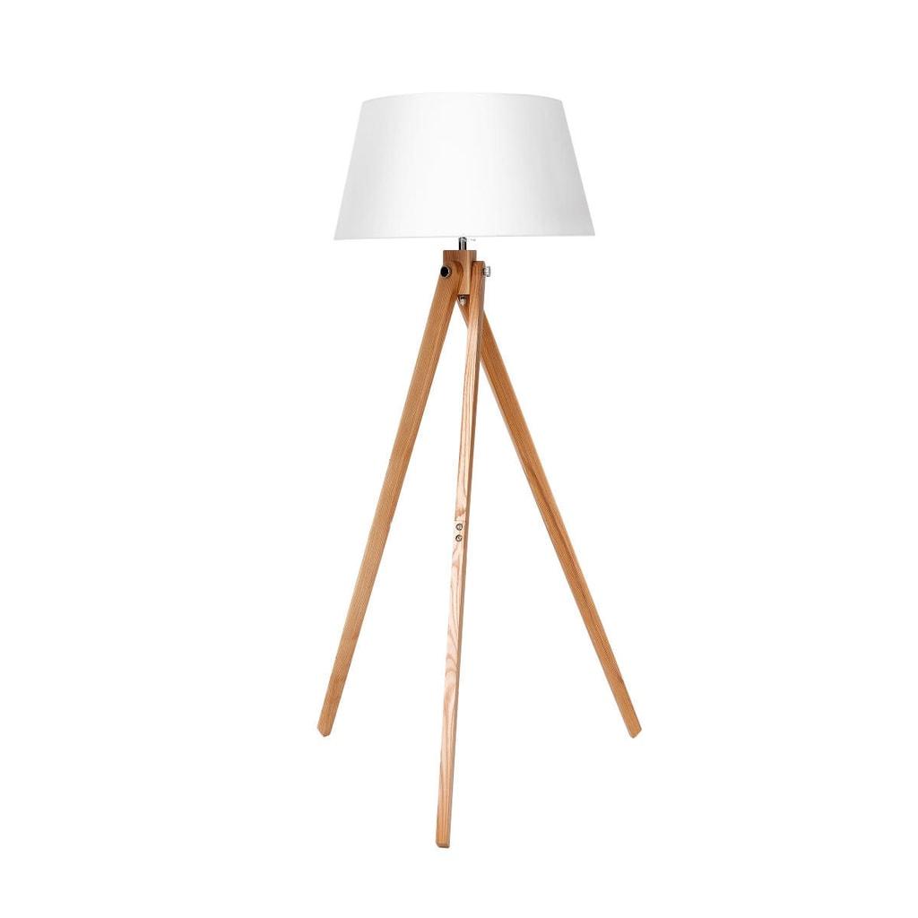 WOODPECKER Stojací lampa s dřevěným podstavcem