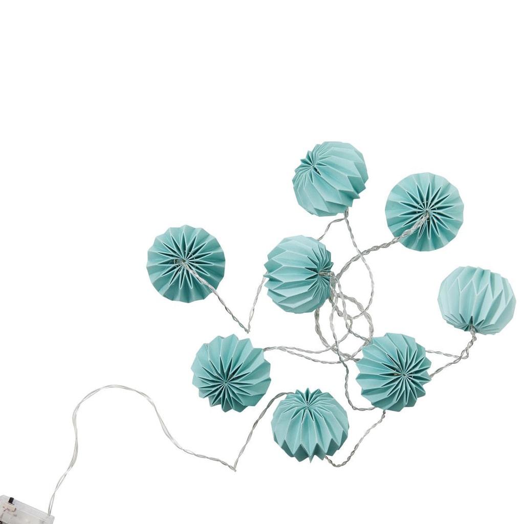 HANAMI Lampióny 8 LED světel - modrozelená