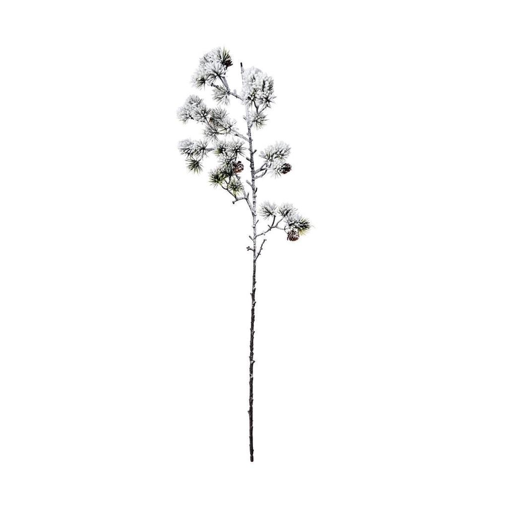 WINTERGREEN Větvička borovice zasněžená 83 cm
