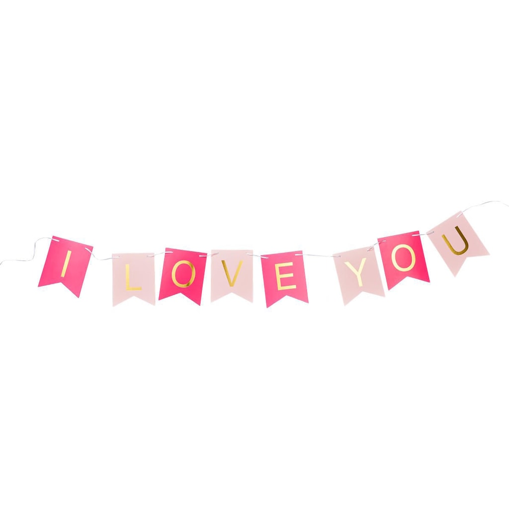 BANNER DAY Girlanda I LOVE YOU