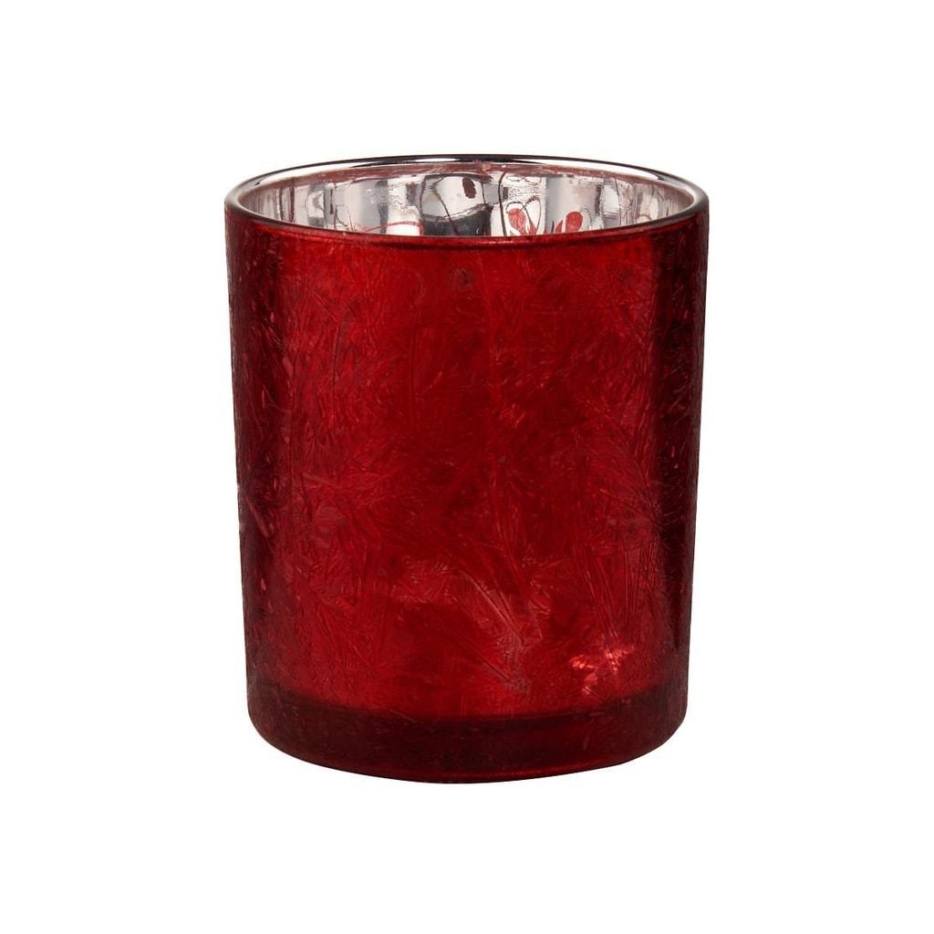 DELIGHT Svícen na čajovou svíčku - červená