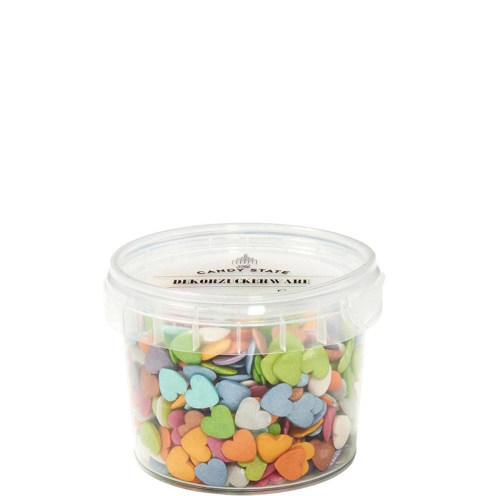 CANDY STATE Dekorace z cukru barevná srdce 65 g