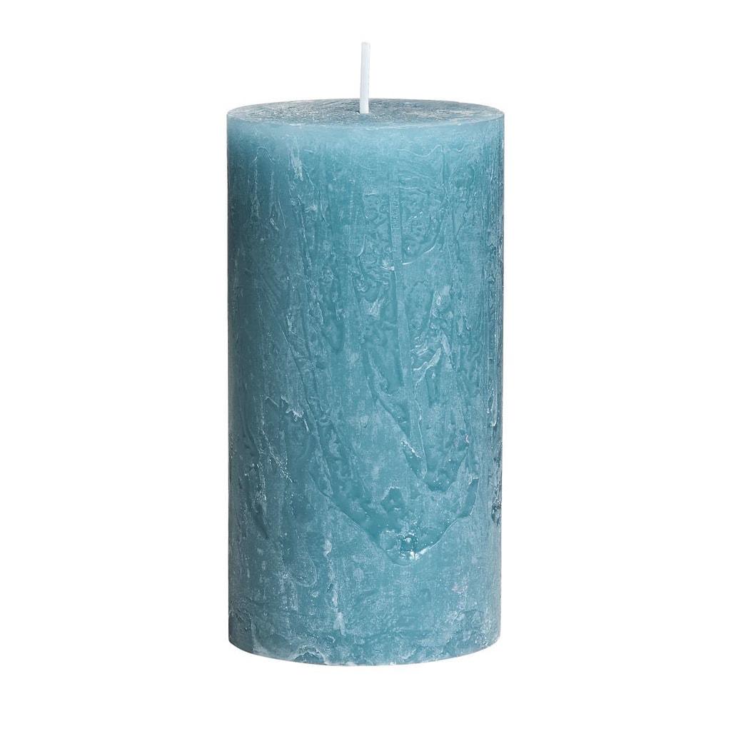 RUSTIC Svíčka 13 cm - modrá