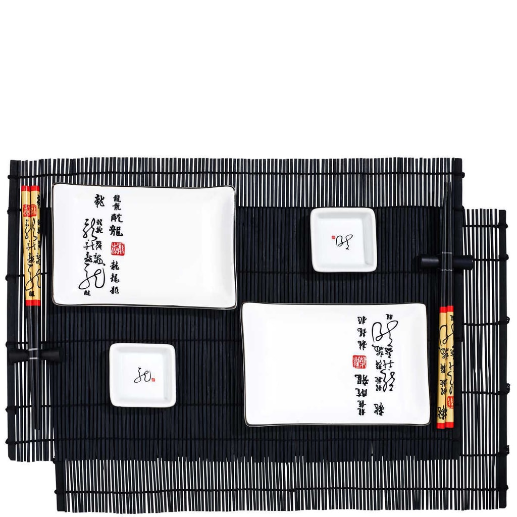 DRAGON Sushi set 10-ti dílný - bílá/černá