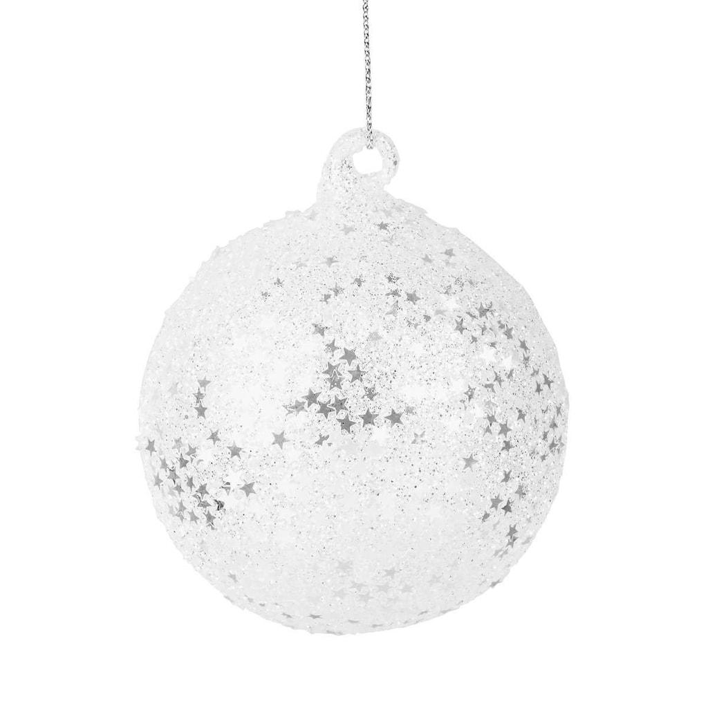 HANG ON Ozdoba koule hvězdy třpytivé 8 cm