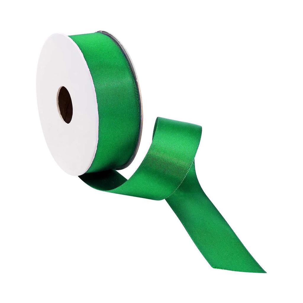 SATIN Dárková stuha široká - zelená