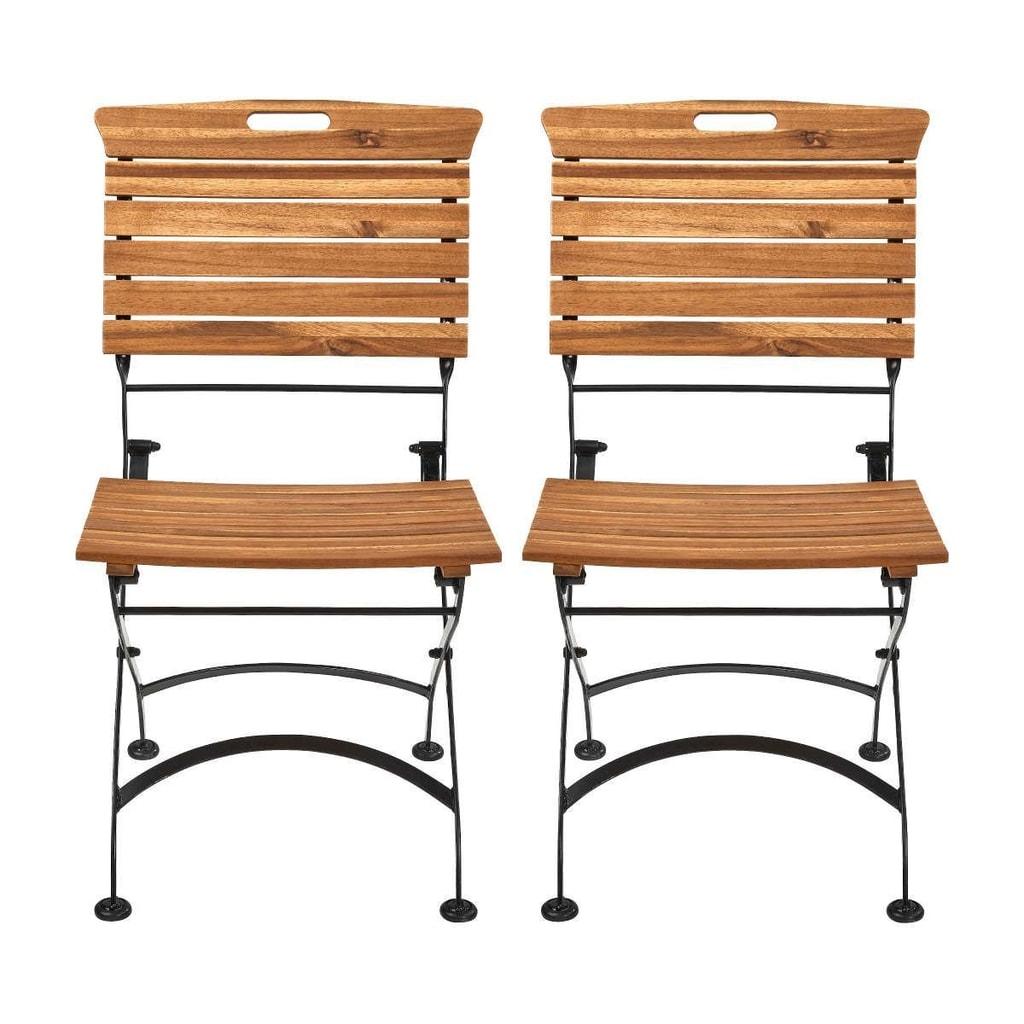 GARDEN STATE Skládací židle, set 2 ks