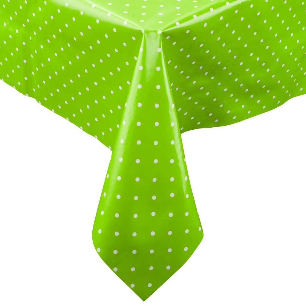 WATERPROOF Ubrus omyvatelný s puntíky 130 x 160 cm - zelená