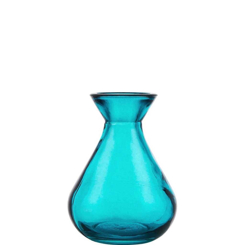 LILIPOT Mini váza ze skla - tyrkysová