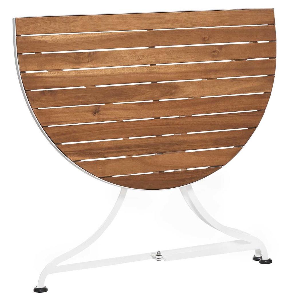 PARKLIFE Balkónový skládací stolek - hnědá/bílá