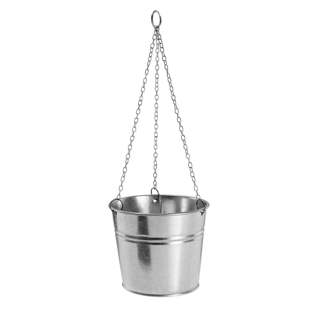 ZINC Závěsný květináč malý - stříbrná