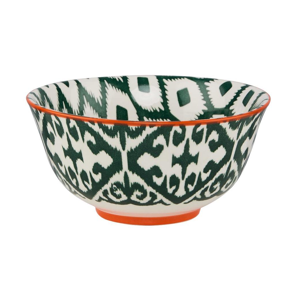 ORNAMENTS Porcelánová miska, 15 cm - zelená