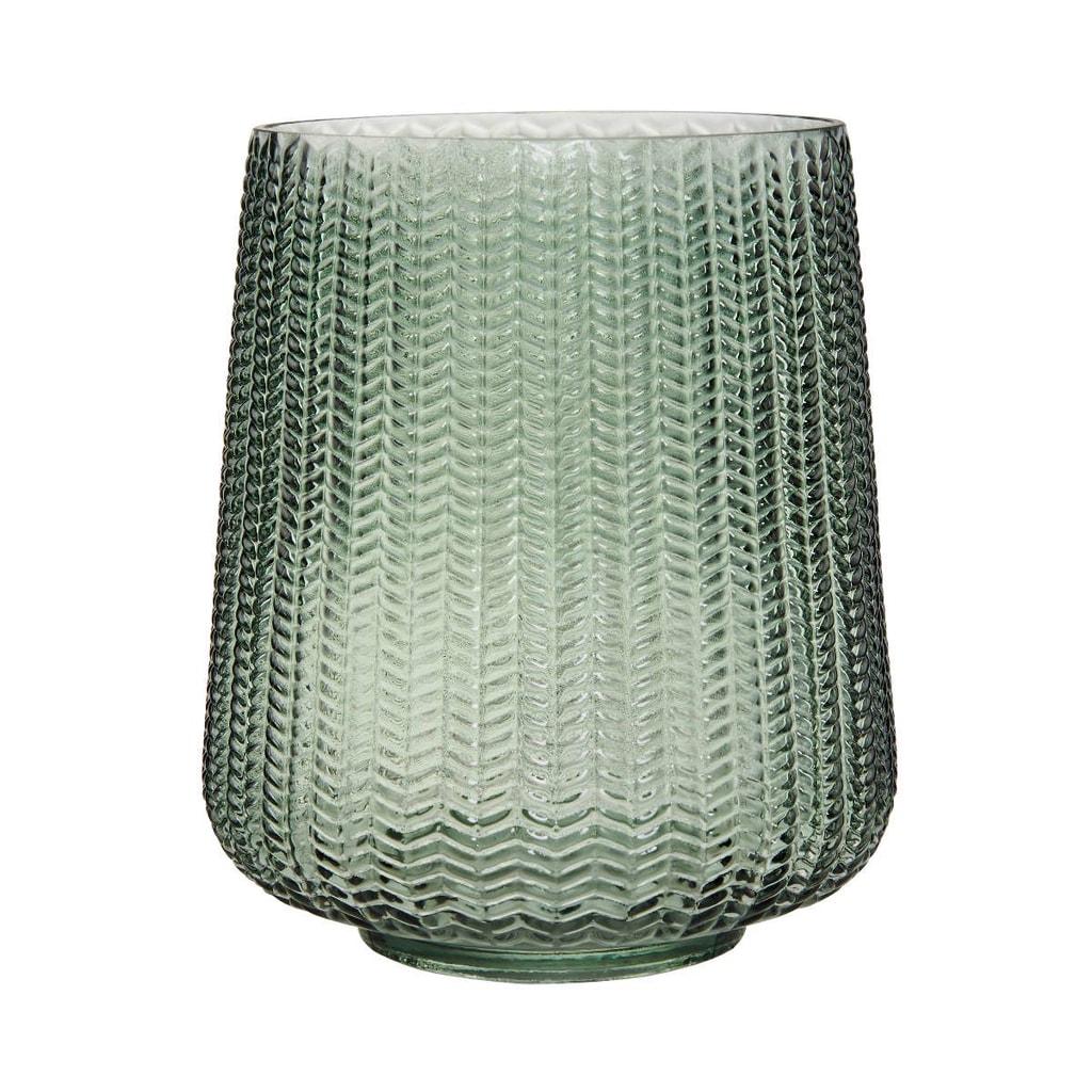 HERRINGBONE Svícen 23 cm - zelená