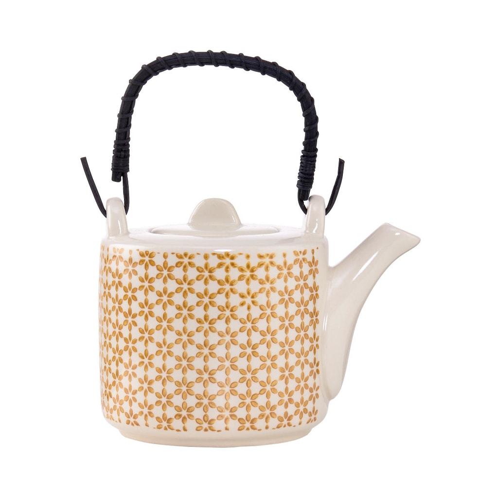 RETRO Konvička na čaj - žlutá