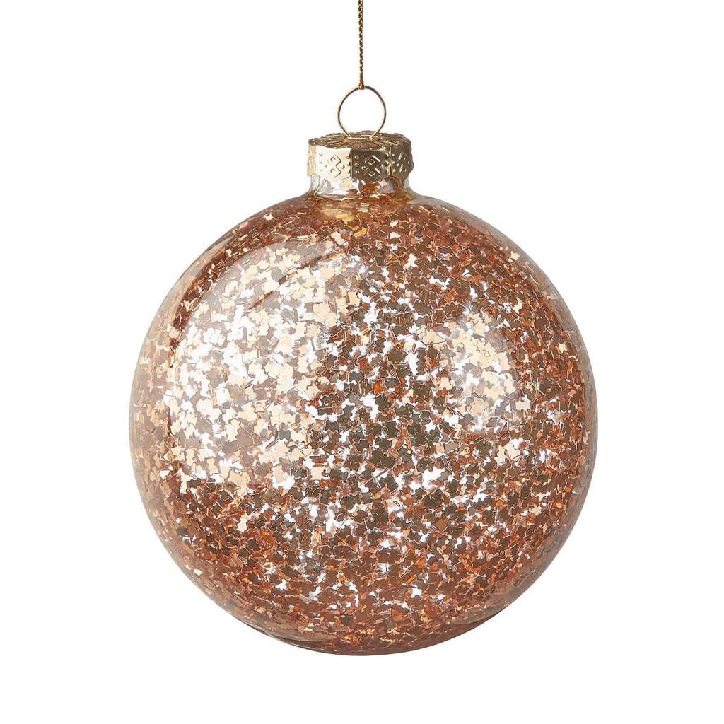 HANG ON Ozdoba vánoční koule cukroví 10 cm